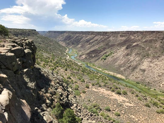 This August 2018 photo shows the Taos Gorge in New Mexico. Hikers have embarked on a 500-mile expedition that will traverse New Mexico. The mission: Chart out the best route and identify what challenges might lay ahead as the state moves closer to establishing the Rio Grande Trail. Following in the footsteps of other states, New Mexico is looking to capitalize on its vistas, mild weather and culture with the creation of a long-distance trail along one of North America's longest rivers.