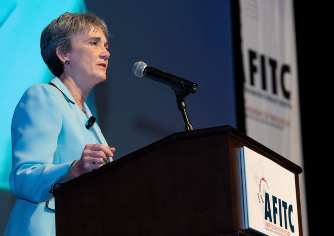 Maxwell AFB, Ala. - The Honorable Heather Wilson, Secretary of the Air Force, opens the 2018 Air Force Information Technology and Cyber Conference in Montgomery, Ala., Aug. 27.