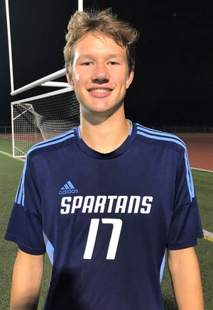 Stevenson junior forward Jake Kaupp had a goal and assist in a KLAA East Division win over Churchill.