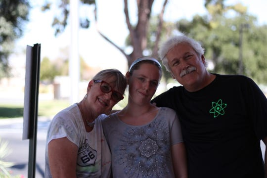 From left to right: Kris, Michelle and Luc Chartrand