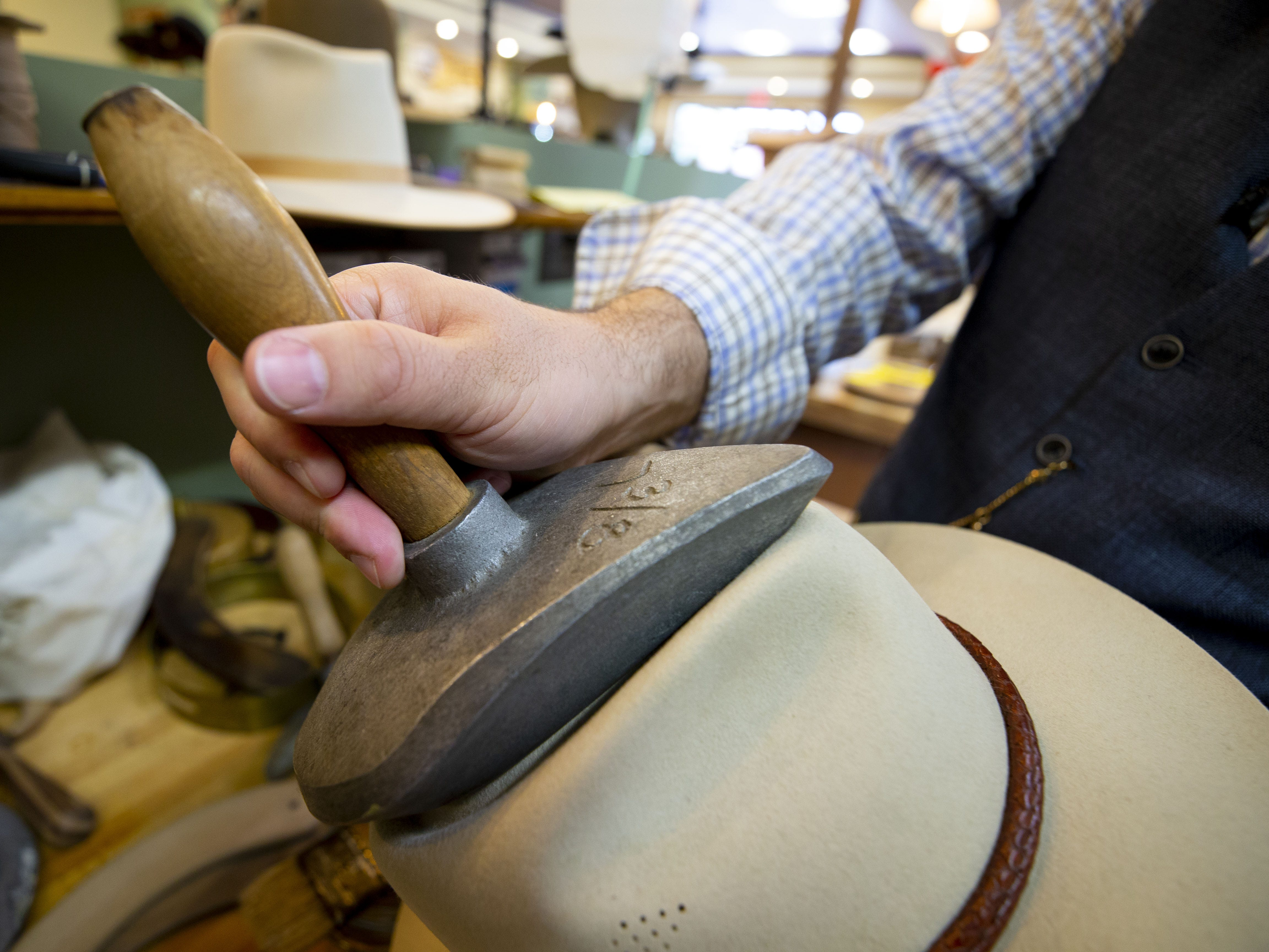 Eric Watson owns Watson's Hat Shop in Cave Creek. Watson makes hats with vintage equipment using processes that are centuries old. His love for hats started after he saw the movie Indiana Jones when he was ten.