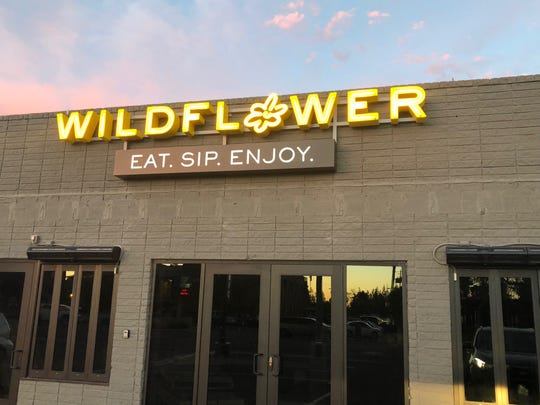 The exterior of Wildflower restaurant in Phoenix.