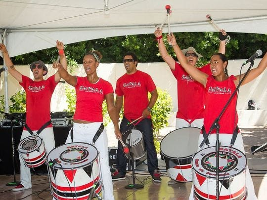 Batala Los Angeles interpretará su estilo de percusión samba-reggae en el Brazilian Day Arizona Festival.