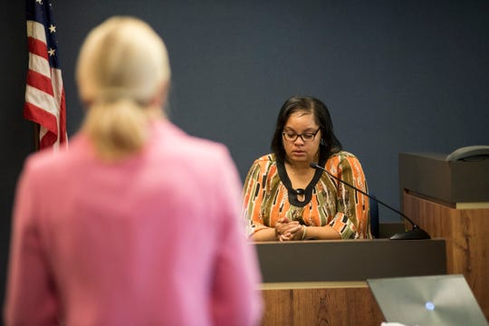 Blue Water Area Transit driver Regina Lee collects herself while recalling the scene of a fatal crash that occured on April 11. Lee's bus caught the accident on its camera.