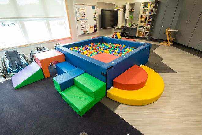 A ball pit sits inside the infant therapy room in the new Early Childhood Center in Port Huron.