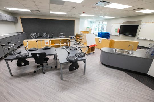 A Great Start Readiness Program classroom in the new Early Childhood Center in Port Huron.