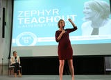 Zephyr Teachout was joined by Alexandria Ocasio-Cortez for a rally at SUNY New Paltz for her bid for New York Attorney General