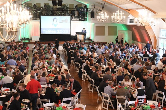More than 430 people attended the Franklin County 2018 Industry Appreciation Dinner held Thursday, Sept. 6, at  Green Grove Gardens, Shady Grove.