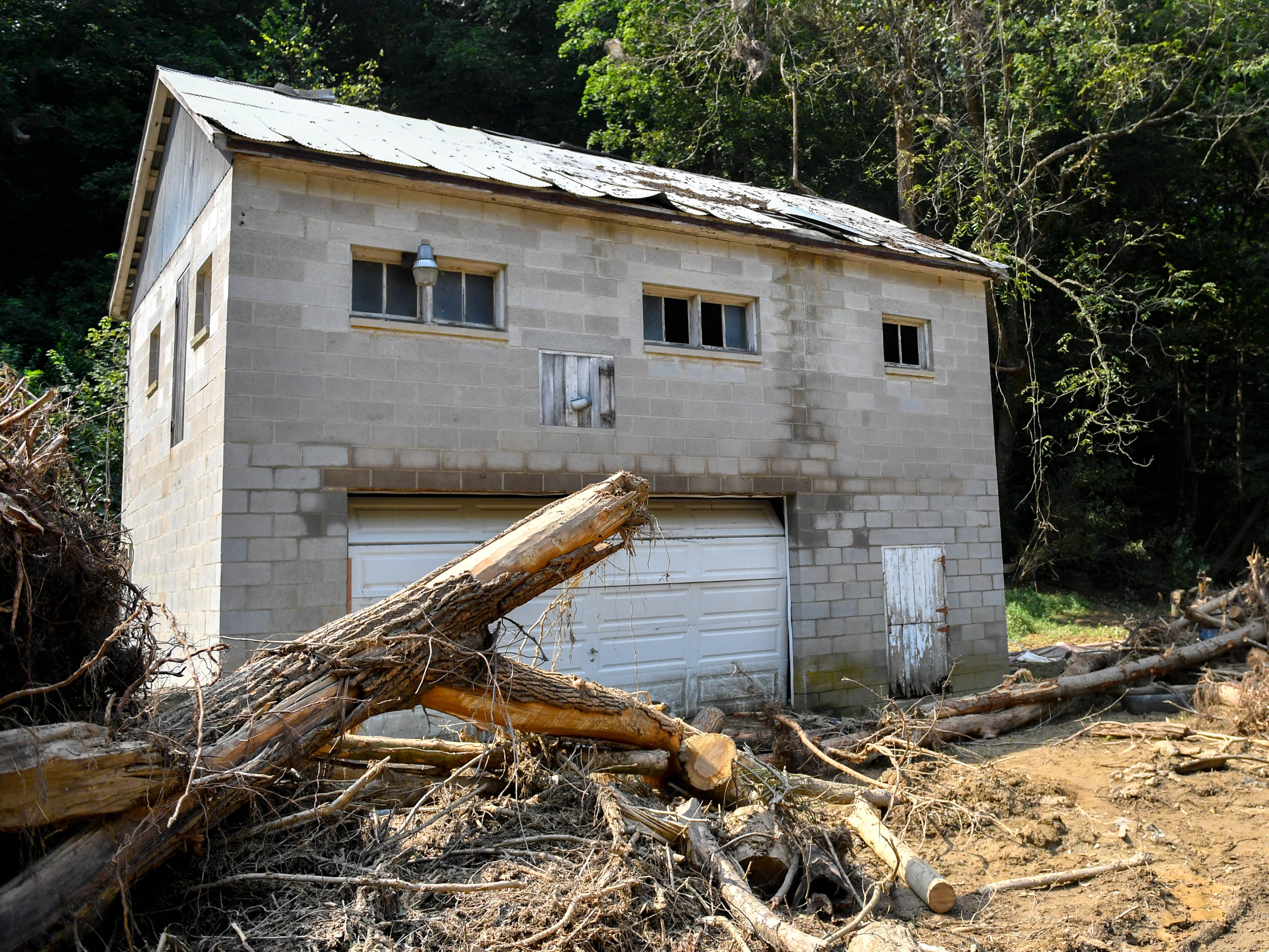 A house on Gum Tree Road has been ravaged by the recent flooding in York County.