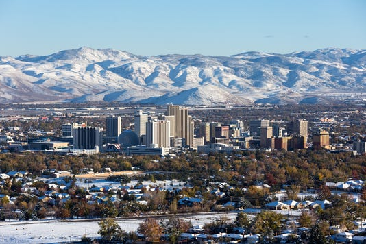 Reno Nevada Downtown During Winter