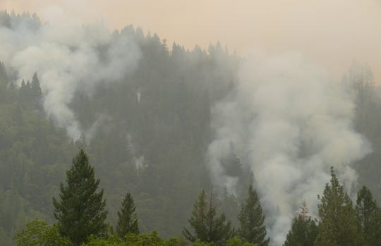 The Delta Fire burns in September off Interstate 5 north of Lakehead.