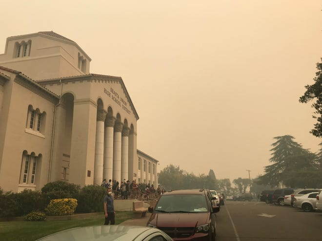 University Preparatory School students were released early on Friday, Sept. 7, 2018 because of the smoky conditions caused by the wildfires burning in Shasta County.
