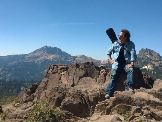 Craig Chaquico at Lassen's Bumpass Hell Trail Overlook