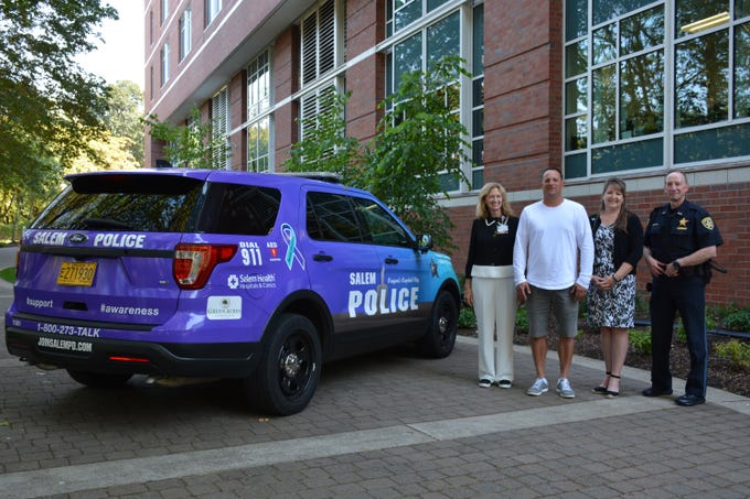 In September, a Salem Police Department SUV will wear purple and turquoise for Suicide Prevention Awareness Month.