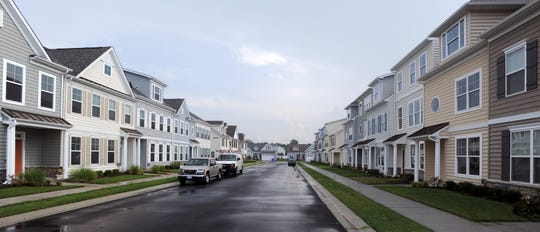 A file photo of a row of homes in the Millville By The Sea neighborhood.