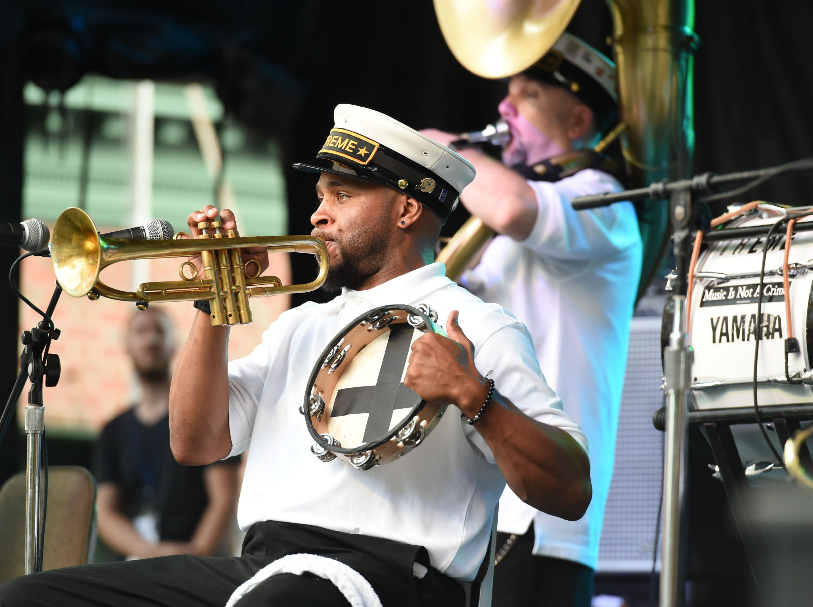 The Treme Brass Band kicked off the 78th National Folk Festival on Friday, Sept. 7, 2018.