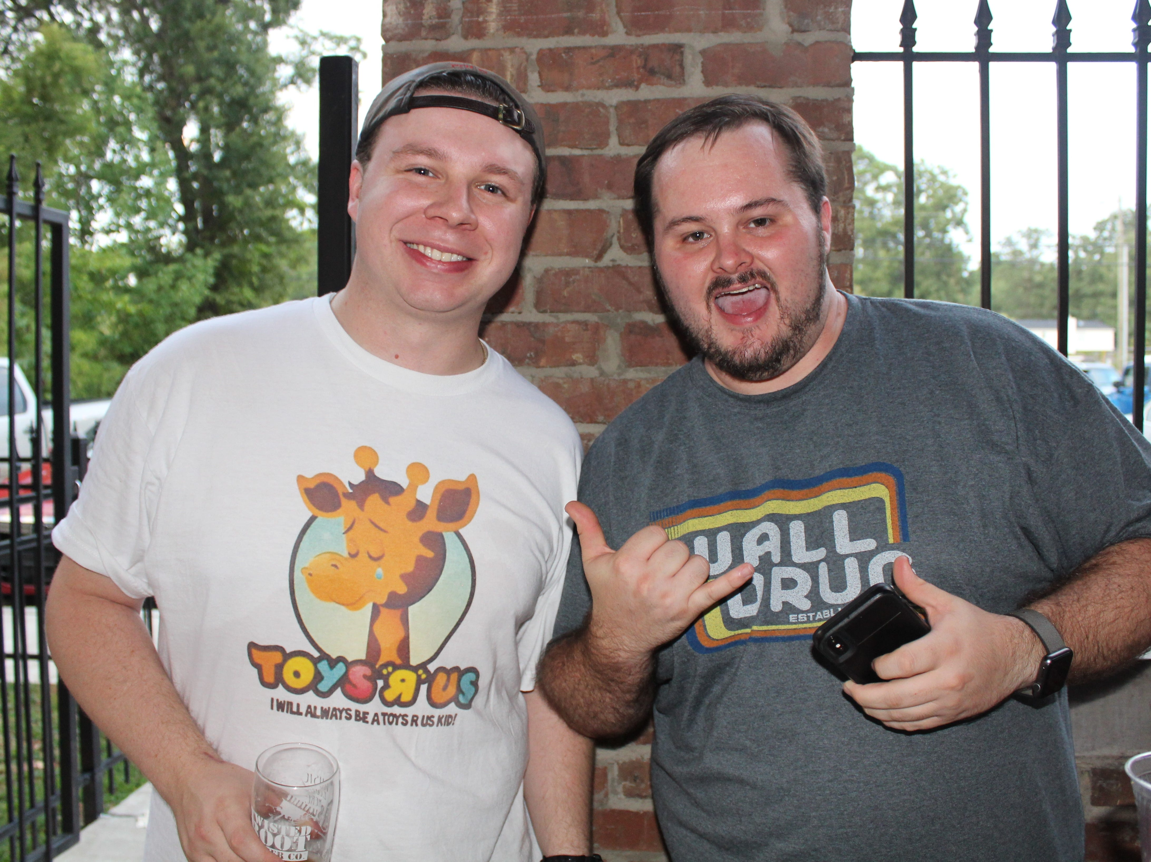 Micheal Brown of Shayliff and Chris Lyon of Prize Fest at the Louisiana Music Prize Top 5 Announcement Party.