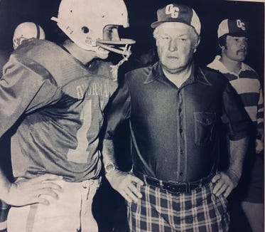 Former Washington High and Augustana College coach Bob Burns came out of retirement in 1976 to coach O'Gorman.