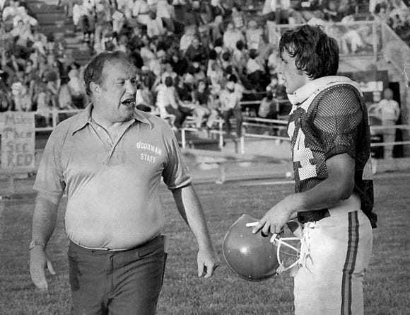 Bob Burns led O'Gorman to a 35-12 victory over Fargo Shanley at the inaugural Dakota Bowl in 1978.