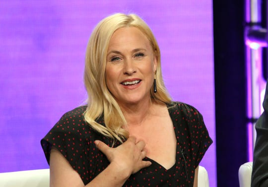 Patricia Arquette is to star in a Hulu scripted series about the Gypsy Blanchard case, Deadline reported Sept. 5, 2018. In this Aug. 6 photo, Arquette participates in a panel during the Showtime Television Critics Association Summer Press Tour in Beverly Hills, California.