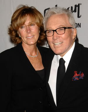 In a 2009 photo, singer Andy Williams and wife Debbie attend the 40th annual Songwriters Hall of Fame ceremony in New York.