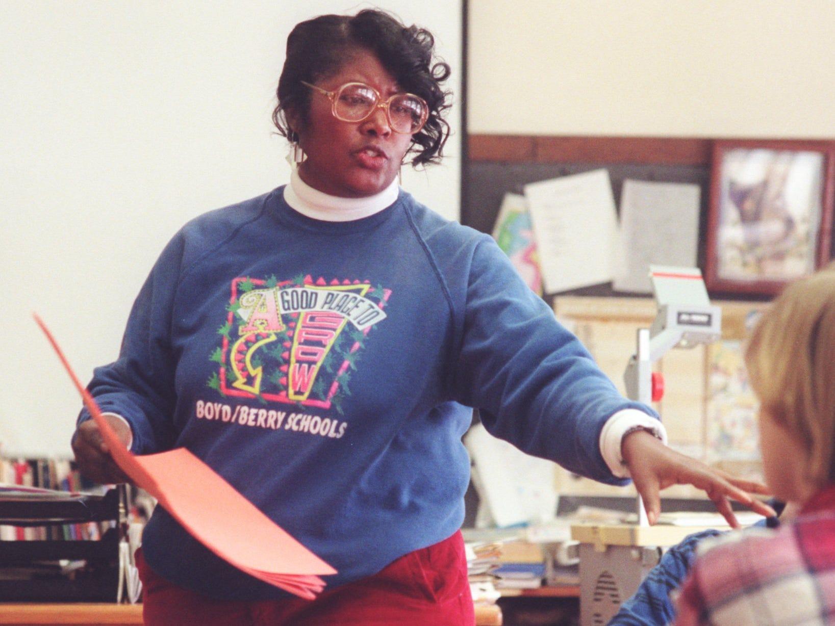 Boyd Elementary School teacher Maxine Smith stresses teaching black history throughout the school year.