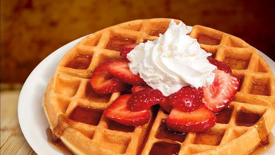 A Belgian waffle at Bric's in Ozark.