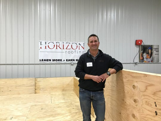Kurt Scepaniak, president and CEO of Horizon Roofing, inside the company's new Waite Park training center in March 2018.