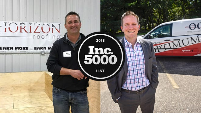 Kurt Scepaniak and Bryan Fleegel are part of businesses that made Inc. Magazine's annual list of 5,000 fastest-growing, private companies.