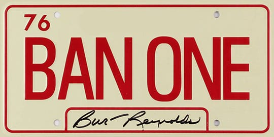The Florida State Seminoles will wear this decal on their helmets at Saturday's game in honor of Burt Reynolds.