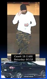 The suspect of the Gold's Gym car burglary, police said. The picture was taken from Target's surveillance cameras.