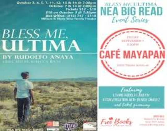 "The UTEP theater department will have a series of community events related to ""Bless Me, Ultima"" to promote literacy in El Paso this month. The department will be giving out 1,800 copies of the book."