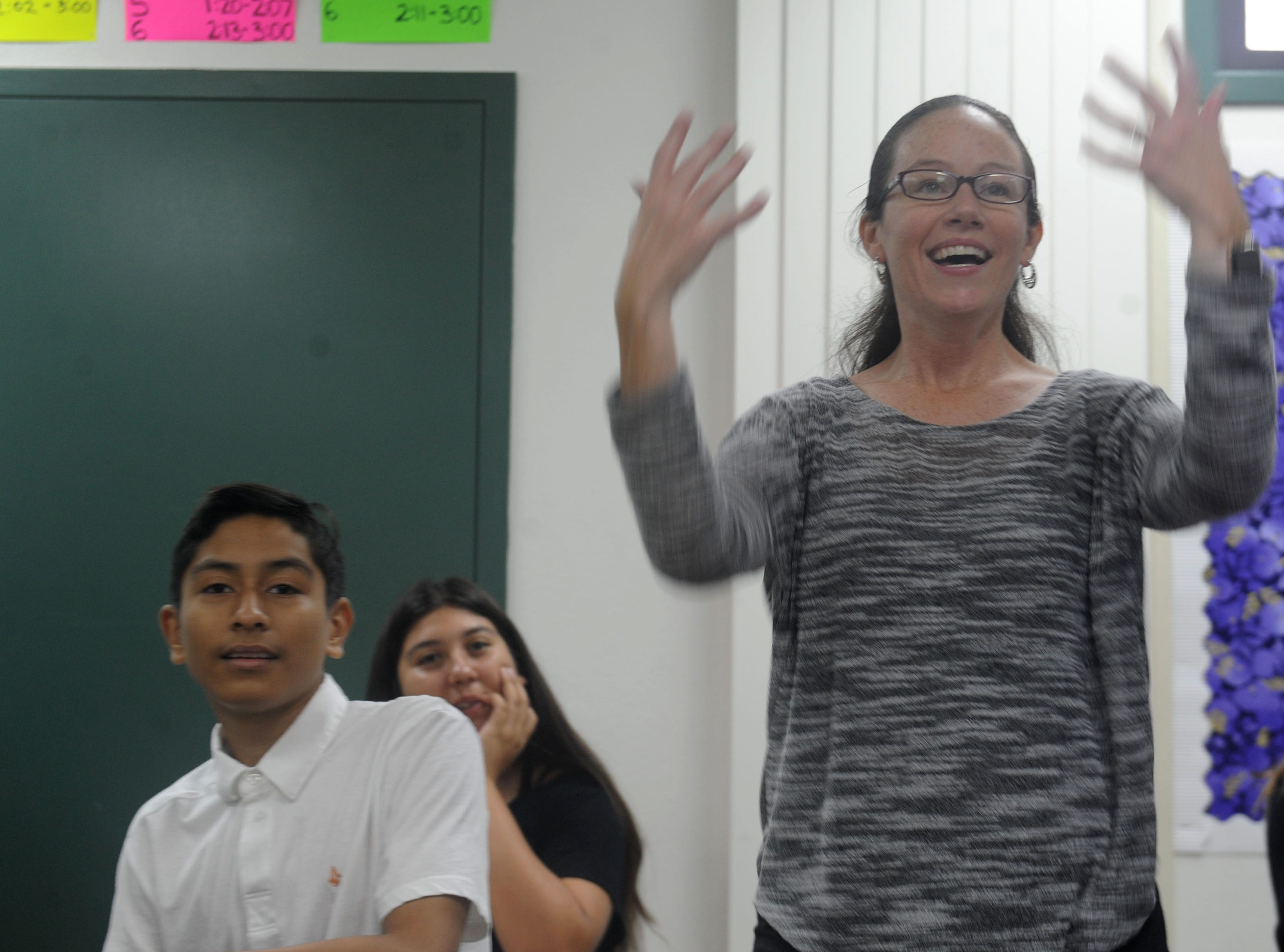 Danielle Bowler, who is deaf and teaches American Sign Language at Moorpark High School, wanted to teach at the high school level. She got the opportunity when Moorpark decided to add ASL classes this year.