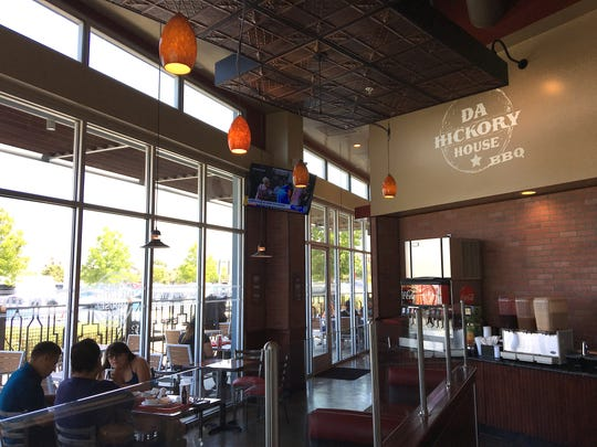 Seating is available indoors and on the patio at Da Hickory House BBQ in Oxnard.