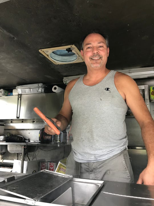 Anthony Romeo, the owner of Anthony's Hot Dogs with locations in Rye Brook, White Plains and New Rochelle.