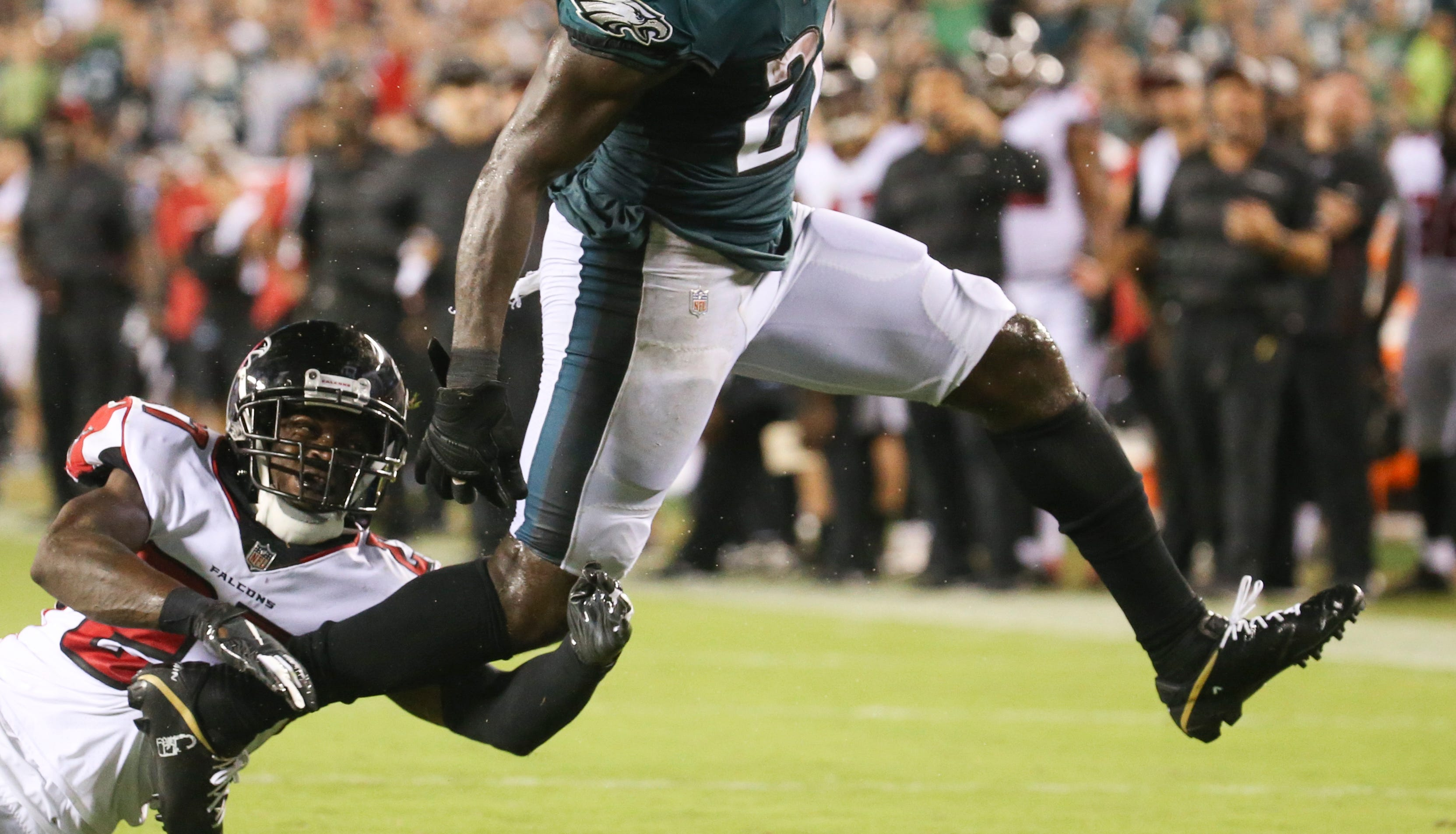 """Running backs Jay Ajayi and Darren Sproles were listed as """"out"""" for the game Sunday, and Corey Clement might not play, either."""