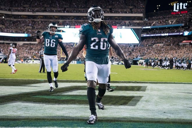 Philadelphia Eagles running back Jay Ajayi. Ajayi went on injured reserve Monday. He leads the Eagles with 184 yards rushing this season.