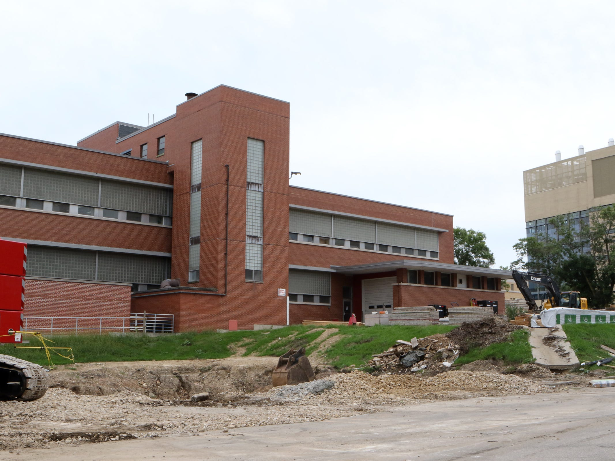 A hole remains where the former UW-Madison Science House stood as work has begun on a $47 million construction and renovation project for UW–Madison's Babcock Hall Dairy Plant and Center for Dairy Research. The project will be completed in three phases with completion anticipated later in 2020.