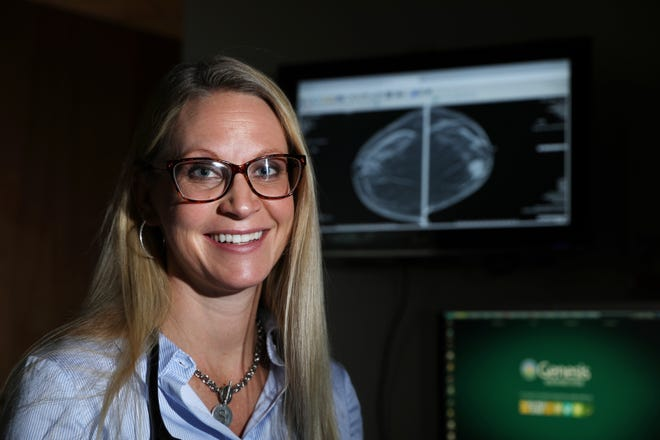 Dr. Shannon Hanley, a breast surgeon withGenesis HealthCare System, sees between 25 and 30 patients every day, treating everything from benign breast disease and pain, in both women and men, to severe category fivebreast cancer patients.