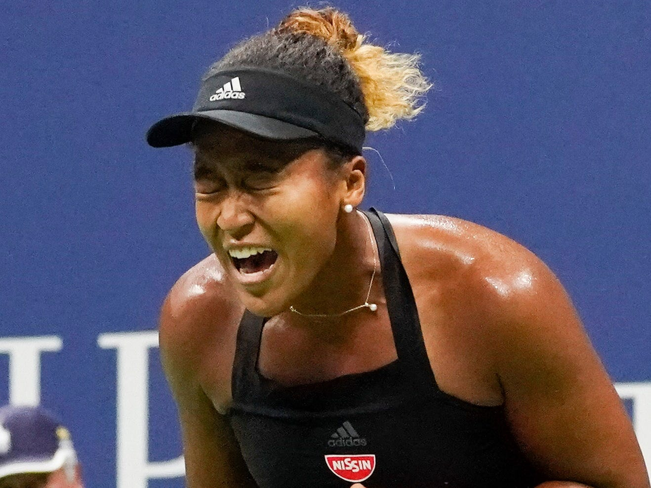 Naomi Osaka, who defeated Madison Keys 6-2, 6-4, earned a meeting with Serena Williams in the final.