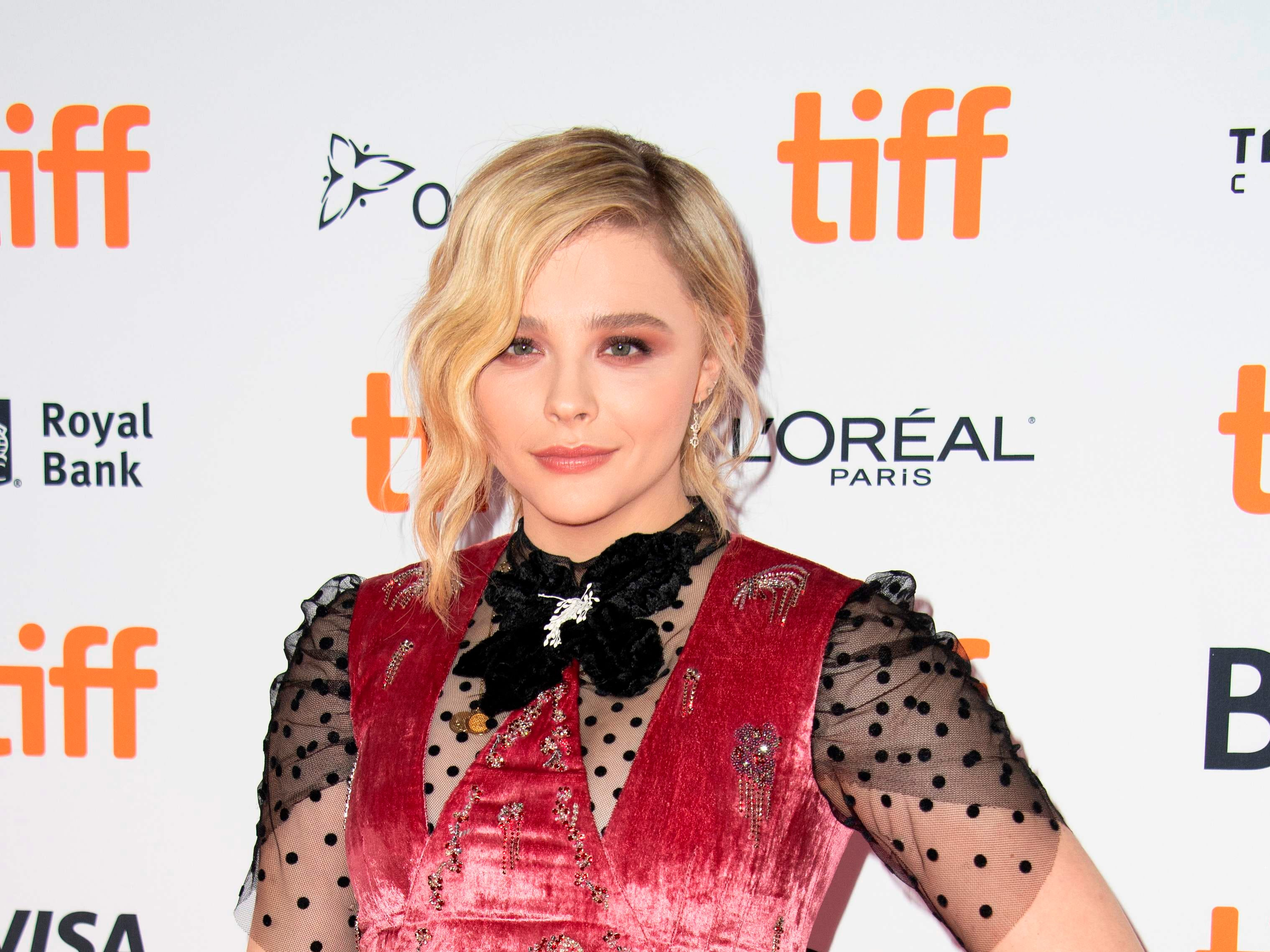 "US actress Chloe Grace Moretz attendS the premiere of ""Greta"" during the Toronto International Film Festival, on September 6, 2018, in Toronto, Ontario, Canada. (Photo by VALERIE MACON / AFP)VALERIE MACON/AFP/Getty Images ORIG FILE ID: AFP_18X02X"