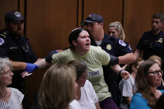 Angry protesters interrupted Supreme Court nominee Brett Kavanaugh's confirmation hearing for four days to vent their grievances over potential changes for abortion rights, health care, gun control and other issues.