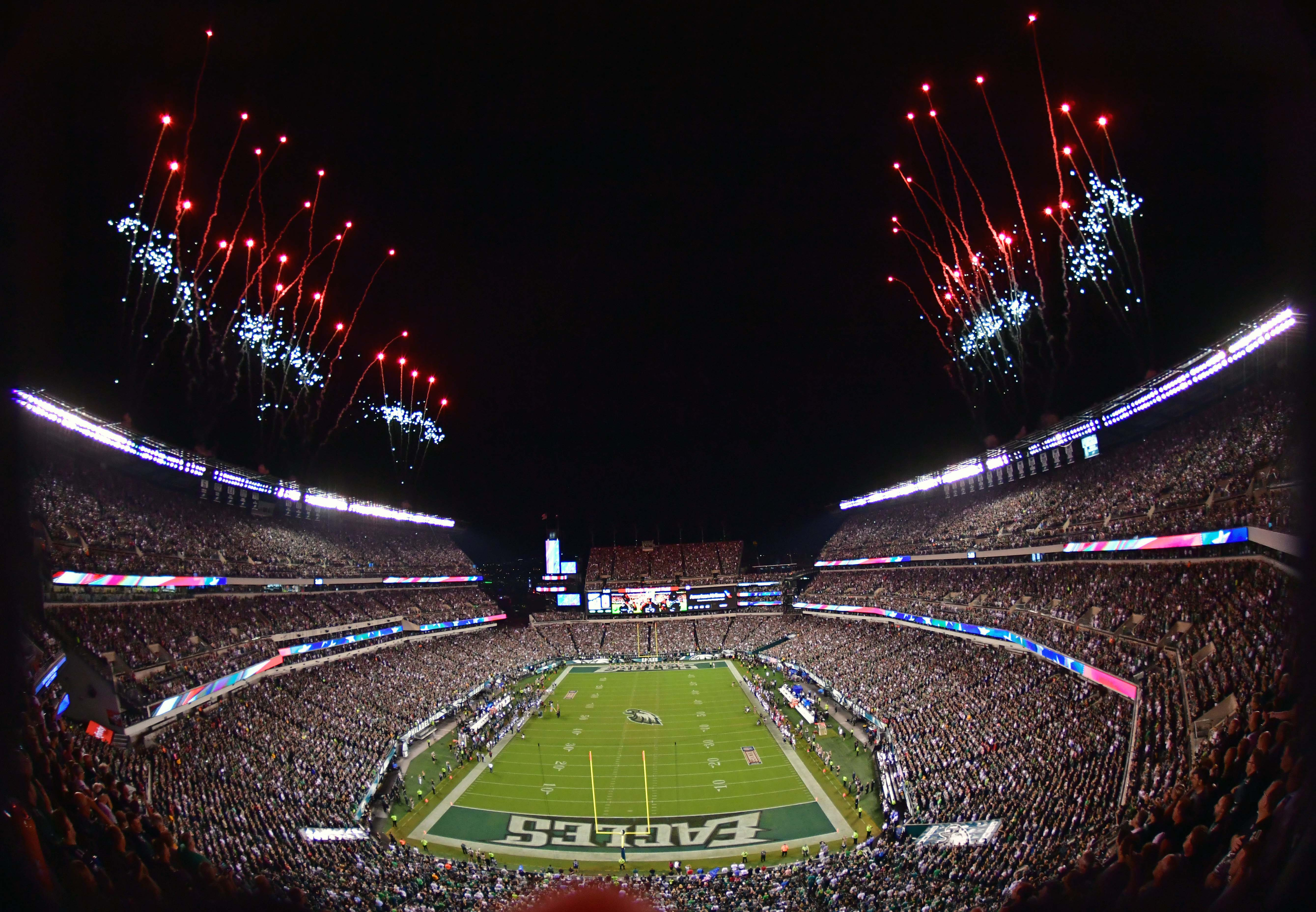 A general view of Lincoln Financial Field during the pregame ceremony honoring the Super Bowl champion Philadelphia Eagles. - Packers QB Carted Off In Clash With Bears