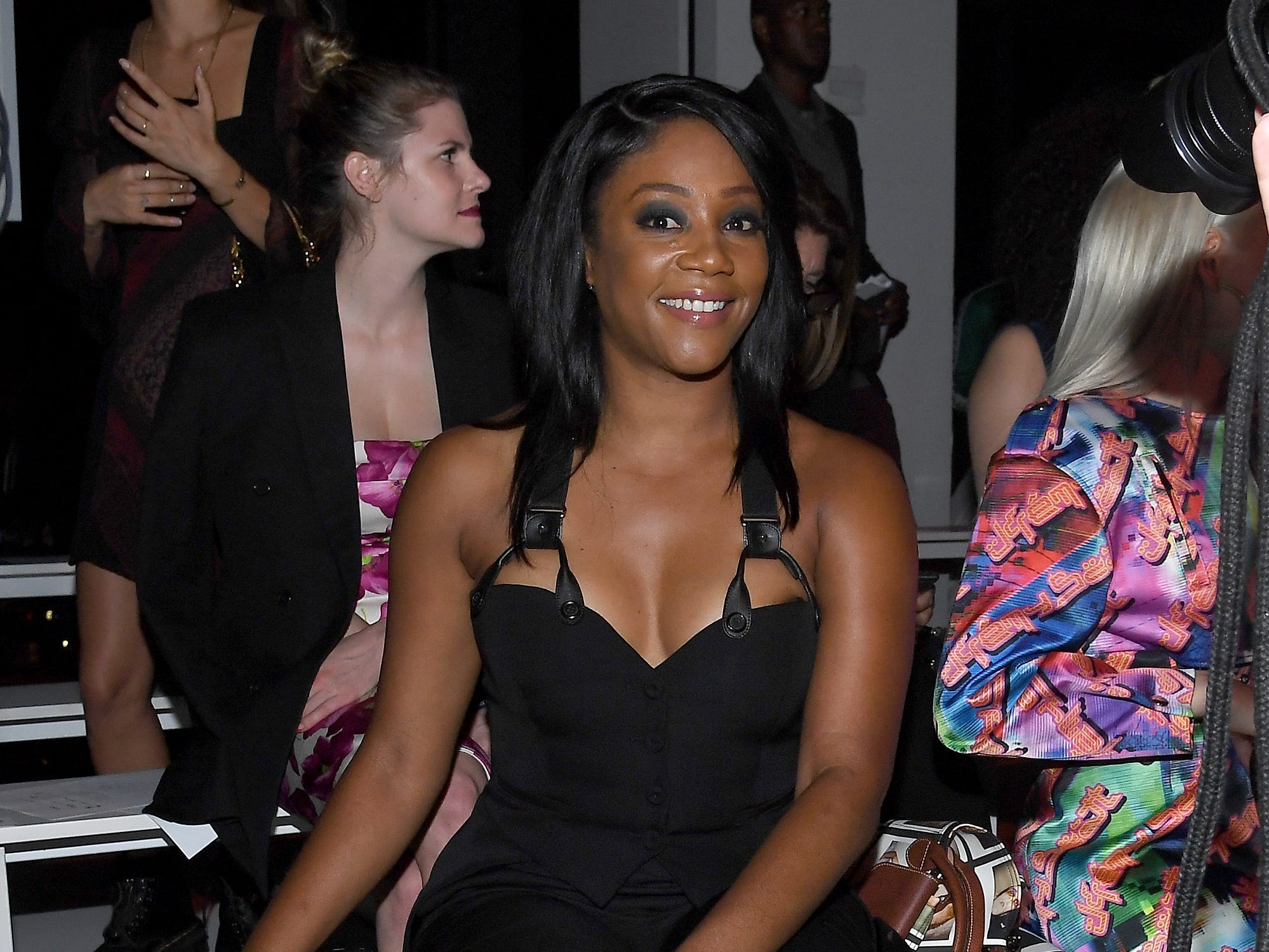 NEW YORK, NY - SEPTEMBER 06:  Tiffany Haddish attends the Jeremy Scott front row during New York Fashion Week: The Shows at Gallery I at Spring Studios on September 6, 2018 in New York City.  (Photo by Nicholas Hunt/Getty Images for NYFW: The Shows) ORG XMIT: 775215639 ORIG FILE ID: 1028019996
