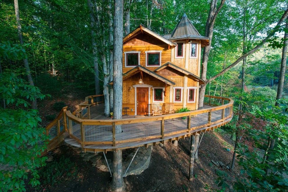 Picture of: Treehouse Master Pete Nelson Building Rentals In Gatlinburg