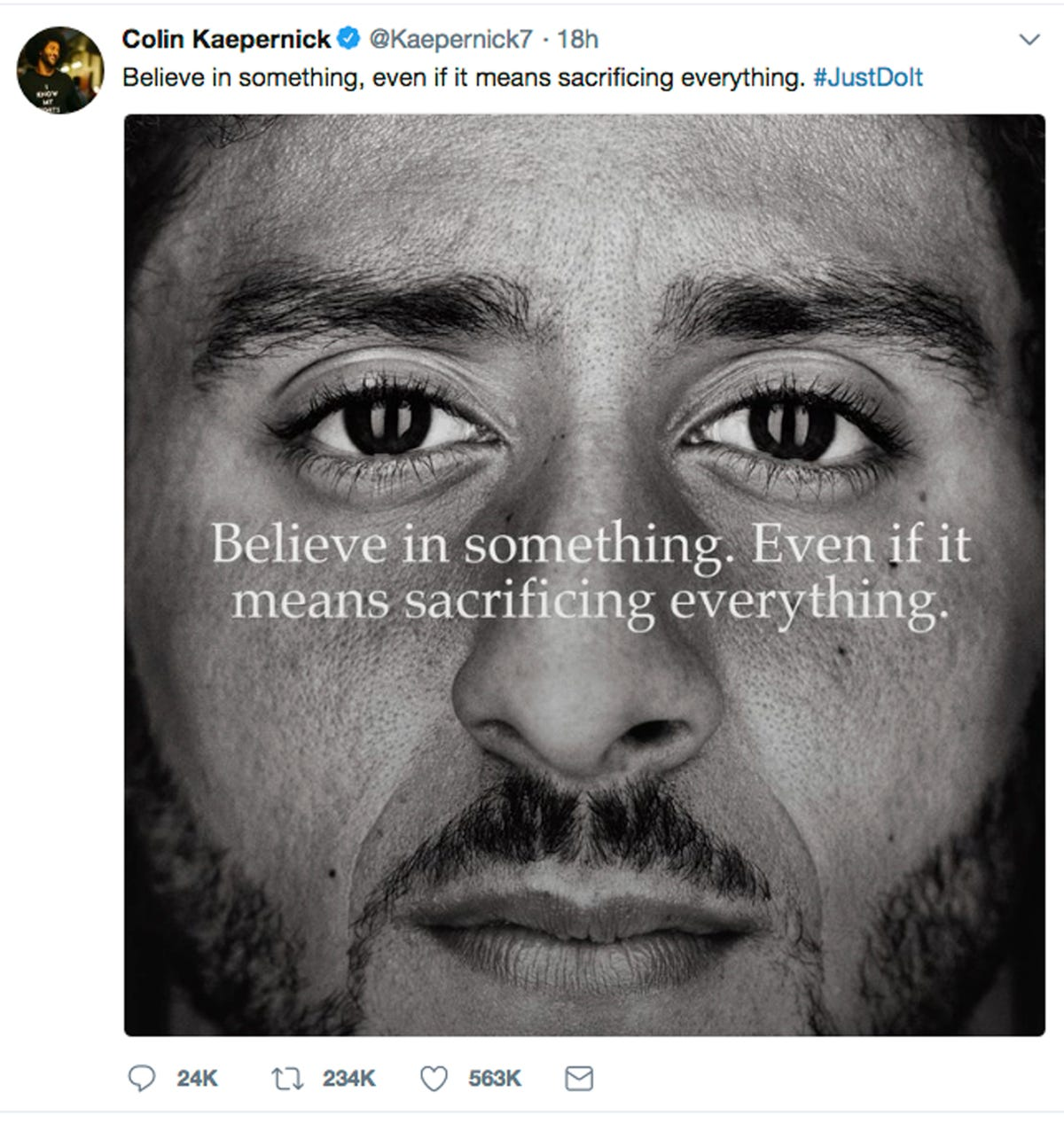 cd361752e Just watch it  Nike s Colin Kaepernick TV ad is inspirational