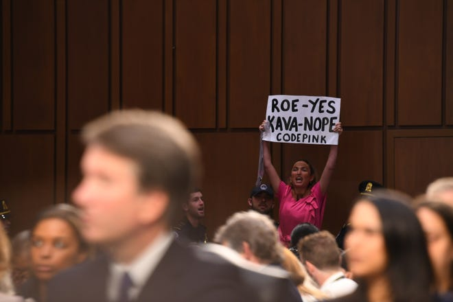 Many of the protesters at Brett Kavanaugh's Supreme Court confirmation hearing expressed fear that he would help overturn Roe v. Wade, the landmark decision legalizing abortion nationwide.