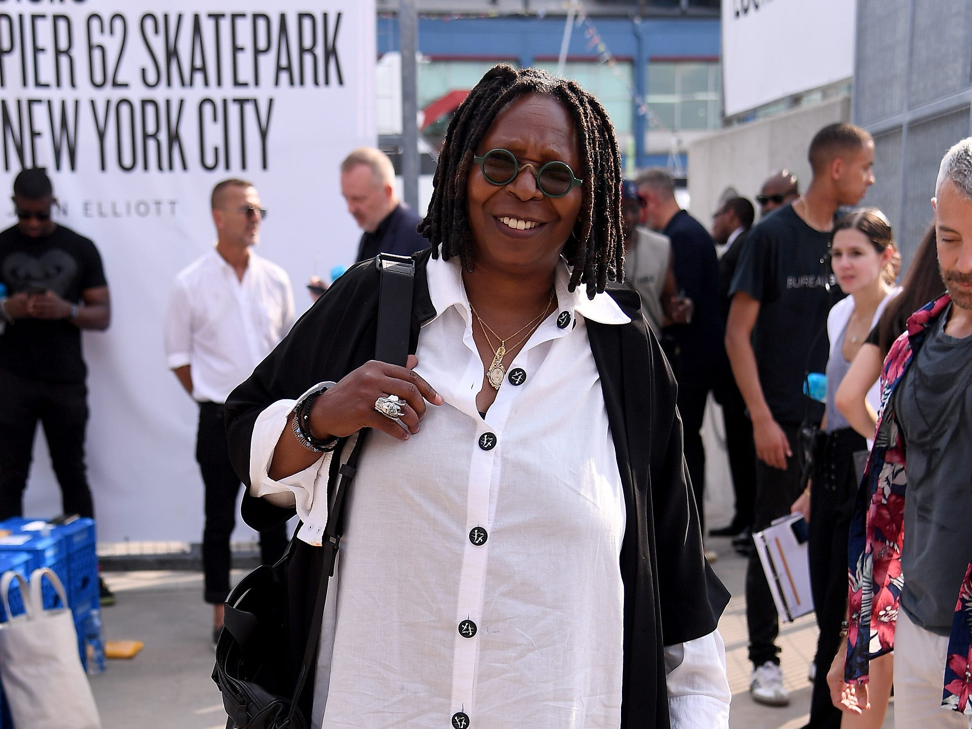 NEW YORK, NY - SEPTEMBER 06:  Whoopi Goldberg attends the John Elliott front row during New York Fashion Week: The Shows on September 6, 2018 in New York City.  (Photo by Nicholas Hunt/Getty Images for NYFW: The Shows) ORG XMIT: 775215621 ORIG FILE ID: 1027970752