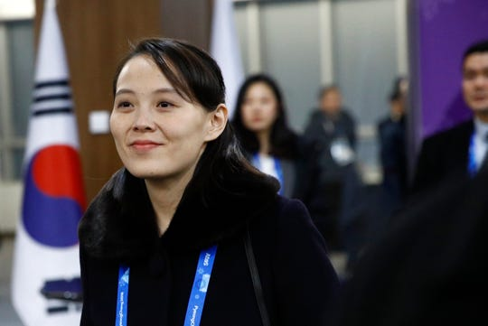 Kim Yo-jong, sister of North Korean leader Kim Jong-un, arrives at the opening ceremony of the 2018 Winter Olympics in Pyeongchang, South Korea, on Friday, Feb. 9, 2018.
