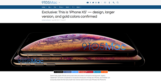 Based on credible info by popular Apple blogs and sites, the new premium OLED-based phones may be named iPhone XS (5.8-inch) and iPhone XS Plus (6.5-inch).